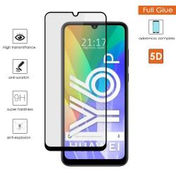 Protector Cristal Templado Completo 5D Full Glue Negro para Huawei Y6P Vidrio