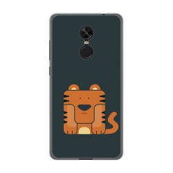 Funda Gel Tpu para Xiaomi Redmi Note 4X / Note 4 Version Global Diseño Tigre Dibujos