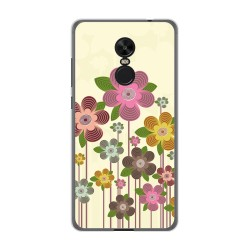 Funda Gel Tpu para Xiaomi Redmi Note 4X / Note 4 Version Global Diseño Primavera En Flor Dibujos