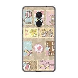 Funda Gel Tpu para Xiaomi Redmi Note 4X / Note 4 Version Global Diseño Sellos Dibujos