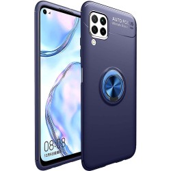 Funda Magnetica Soporte con Anillo Giratorio 360 para Huawei P40 Lite Azul