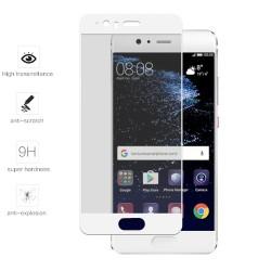 Protector Cristal Templado Frontal Completo Blanco para Huawei P10 Plus Vidrio