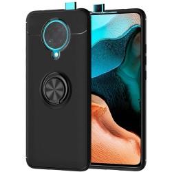 Funda Magnetica Soporte con Anillo Giratorio 360 para Xiaomi POCO F2 Pro Negra