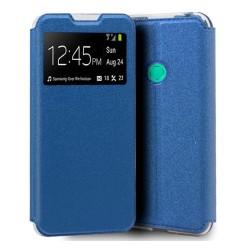 Funda Libro Soporte con Ventana para Huawei P40 Lite E color Azul
