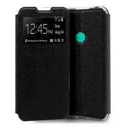 Funda Libro Soporte con Ventana para Huawei P40 Lite E color Negra