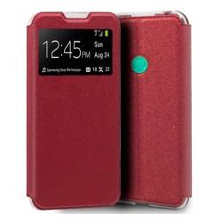 Funda Libro Soporte con Ventana para Huawei P40 Lite E color Roja