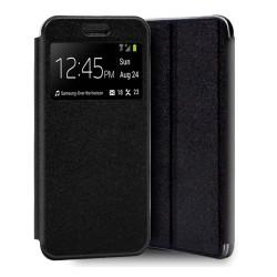 Funda Libro Soporte con Ventana para Huawei Y5p color Negra