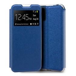 Funda Libro Soporte con Ventana para Xiaomi Mi 10 Lite color Azul
