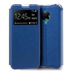 Funda Libro Soporte con Ventana para Xiaomi POCO F2 Pro color Azul
