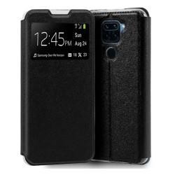Funda Libro Soporte con Ventana para Xiaomi Redmi Note 9 color Negra