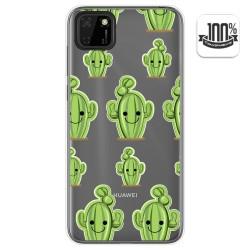 Funda Gel Transparente para Huawei Y5p diseño Cactus Dibujos