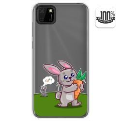 Funda Gel Transparente para Huawei Y5p diseño Conejo Dibujos