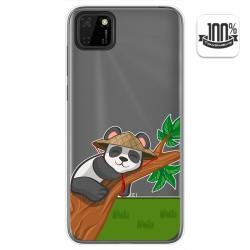 Funda Gel Transparente para Huawei Y5p diseño Panda Dibujos