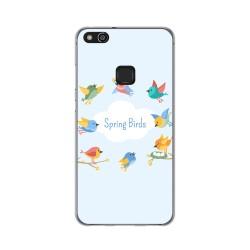 Funda Gel Tpu para Huawei P10 Lite Diseño Spring Birds Dibujos