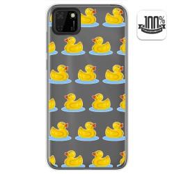 Funda Gel Transparente para Huawei Y5p diseño Pato Dibujos