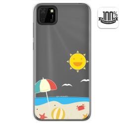 Funda Gel Transparente para Huawei Y5p diseño Playa Dibujos