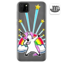 Funda Gel Transparente para Huawei Y5p diseño Unicornio Dibujos