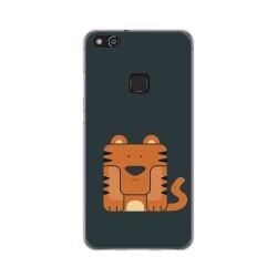 Funda Gel Tpu para Huawei P10 Lite Diseño Tigre Dibujos