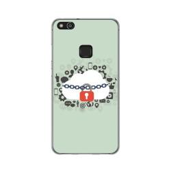 Funda Gel Tpu para Huawei P10 Lite Diseño Nube Dibujos