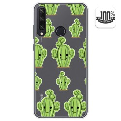 Funda Gel Transparente para Huawei Y6p diseño Cactus Dibujos