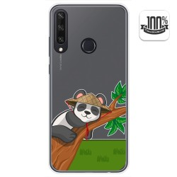 Funda Gel Transparente para Huawei Y6p diseño Panda Dibujos