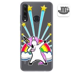 Funda Gel Transparente para Huawei Y6p diseño Unicornio Dibujos