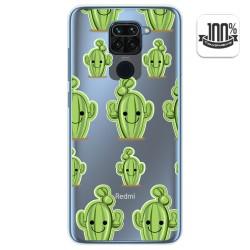 Funda Gel Transparente para Xiaomi Redmi Note 9 diseño Cactus Dibujos