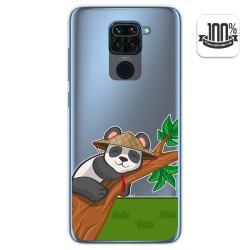 Funda Gel Transparente para Xiaomi Redmi Note 9 diseño Panda Dibujos