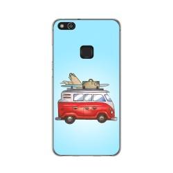 Funda Gel Tpu para Huawei P10 Lite Diseño Furgoneta Dibujos