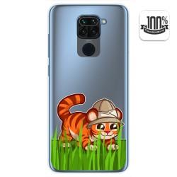 Funda Gel Transparente para Xiaomi Redmi Note 9 diseño Tigre Dibujos