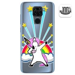 Funda Gel Transparente para Xiaomi Redmi Note 9 diseño Unicornio Dibujos