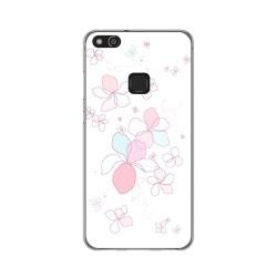 Funda Gel Tpu para Huawei P10 Lite Diseño Flores Minimal Dibujos