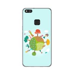 Funda Gel Tpu para Huawei P10 Lite Diseño Familia Dibujos