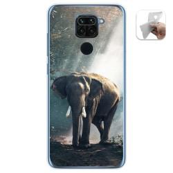 Funda Gel Tpu para Xiaomi Redmi Note 9 diseño Elefante Dibujos