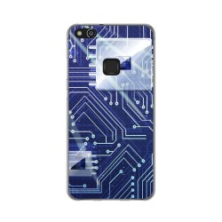 Funda Gel Tpu para Huawei P10 Lite Diseño Circuito Dibujos