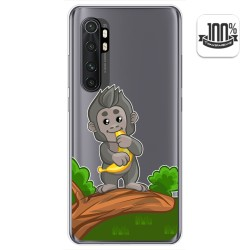 Funda Gel Transparente para Xiaomi Mi Note 10 Lite diseño Mono Dibujos