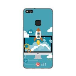 Funda Gel Tpu para Huawei P10 Lite Diseño Cohete Dibujos