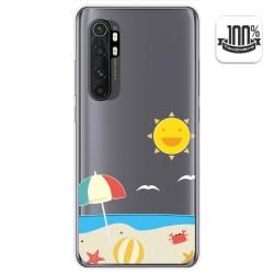 Funda Gel Transparente para Xiaomi Mi Note 10 Lite diseño Playa Dibujos
