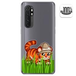 Funda Gel Transparente para Xiaomi Mi Note 10 Lite diseño Tigre Dibujos
