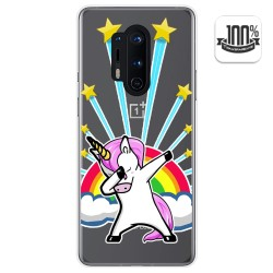 Funda Gel Transparente para Oneplus 8 Pro diseño Unicornio Dibujos