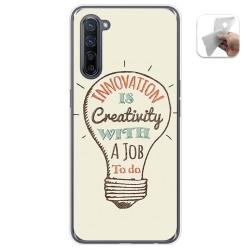 Funda Gel Tpu para Oppo Find X2 Lite diseño Creativity Dibujos