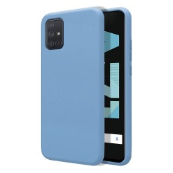 Funda Silicona Líquida Ultra Suave para Samsung Galaxy A71 color Azul Celeste