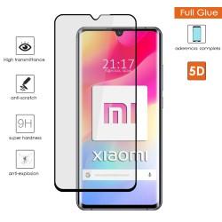 Protector Cristal Templado Completo 5D Full Glue Negro para Xiaomi Mi 10 Lite Vidrio