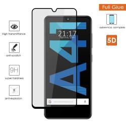 Protector Cristal Templado Completo 5D Full Glue Negro para Samsung Galaxy A41 Vidrio