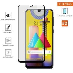 Protector Cristal Templado Completo 5D Full Glue Negro para Samsung Galaxy M31 Vidrio