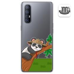 Funda Gel Transparente para Oppo Find X2 Neo diseño Panda Dibujos