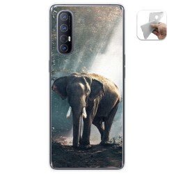 Funda Gel Tpu para Oppo Find X2 Neo diseño Elefante Dibujos