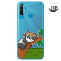 Funda Gel Transparente para Realme C3 diseño Panda Dibujos