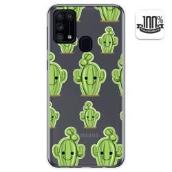 Funda Gel Transparente para Samsung Galaxy M31 diseño Cactus Dibujos