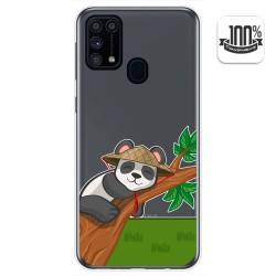 Funda Gel Transparente para Samsung Galaxy M31 diseño Panda Dibujos